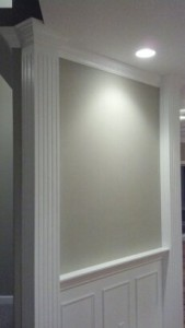 Wainscoting and Column