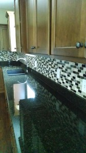 Kitchen back spash with granite top