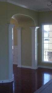 foyer double arched view