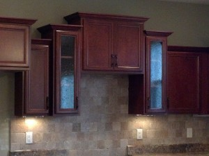 kitchen with standard cabinet details
