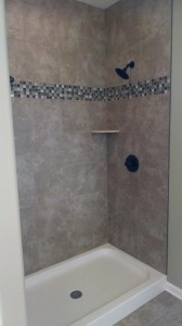tile surround shower