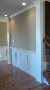 trim columns with wainscoating