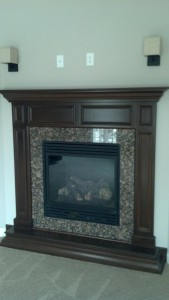 trim fireplace detail